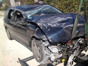 """""""Car crash"""" by La Cara Salma - Own work Nel vero senso della parola! (sic!). Licensed under CC BY-SA 3.0 via Wikimedia Commons - https://commons.wikimedia.org/wiki/File:Car_crash.jpg#/media/File:Car_crash.jpg"""
